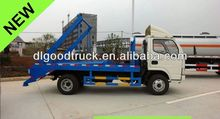 4000L Dongfeng swing arm garbage truck skip loader garbage truck refuse collection vehicle bin lorry 0086-13635733504