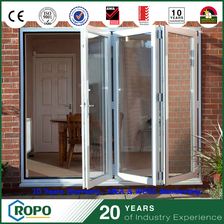 Wider passage door folding design with plastic frame