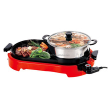 Hot sale Korean style smokeless indoor electric hot pot bbq grill