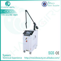 fast and safe 1064 and 532 nm Q switch ND:YAG laser with variable sizes handpiece