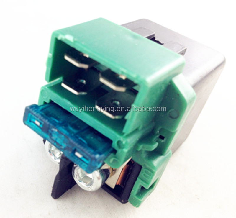 green starter solenoid 12v relay 4 pin for Wuyang 125cc motorcycle KAWASAKI VN1500 VULCAN C1500