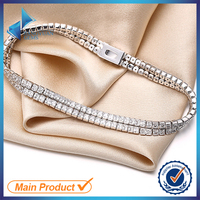 JYB0012 Hot Sale Fashion Silver Tennis Bracelets Dubai Wholesale Market