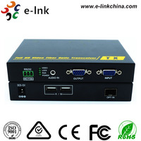 1080P USB VGA KVM Fiber Optic Extender with Keyboard/Mouse USB port