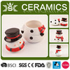 2016 Christmas snowman large ceramic storage jar with cap