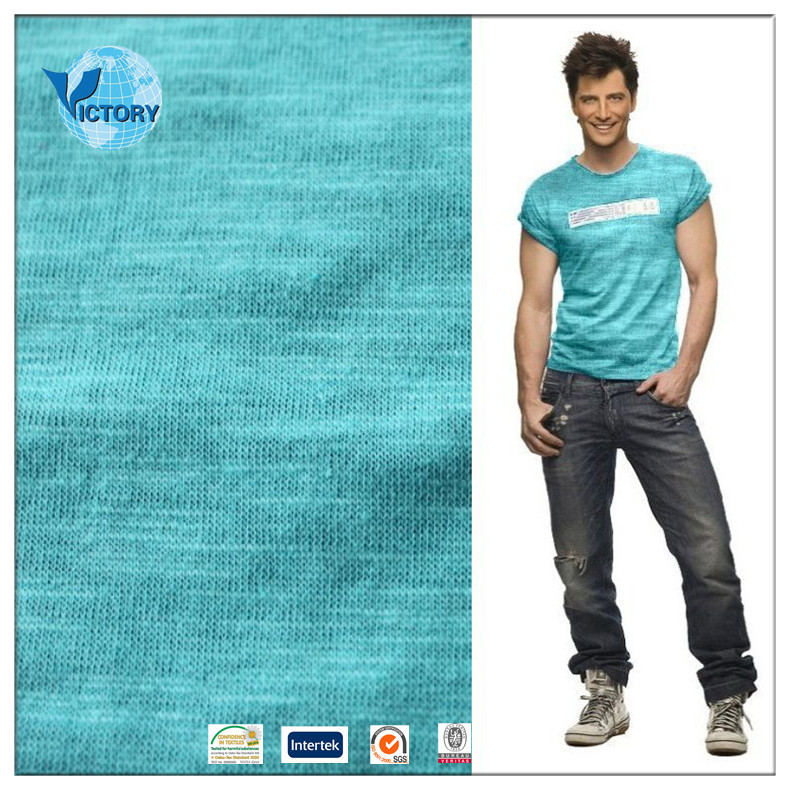 100% Cotton Slub Single Jersey Fabric Wholesale for Garment or T shirt