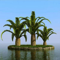 Palmaceae Artificial Natural Elaeis Fake Tree Canary Palm Phonix Palm artificial plants and trees
