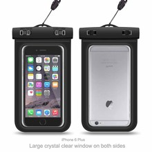 Universal plastic waterproof pvc phone pouch waterproof phone bag with lanyard