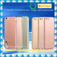 TPU diamond transparent clear hard back cover case for samsung galaxy grand duos