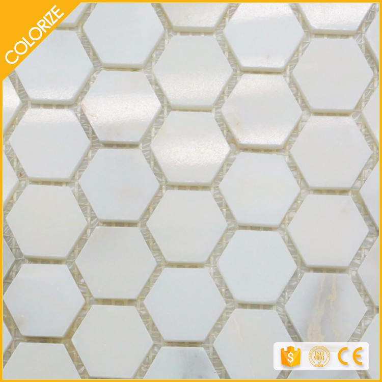 Colorize Mosaic thickness 10 mm hexagon flower mosaic tile
