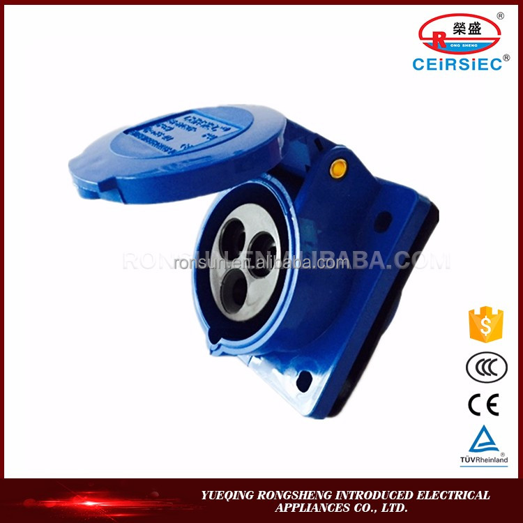 Competitive price 16A/32A 220V-250V 2P+E IP44 electric socket outlet vde types