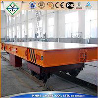 Electric Rail Flat Car Used for heavy load goods with 40 ton capacity
