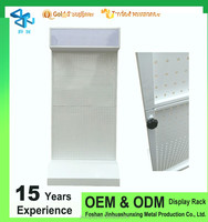 Metal Orifice plate cell phone case display rack/accessories display rack/nail polish display rack with hooks or shelvs