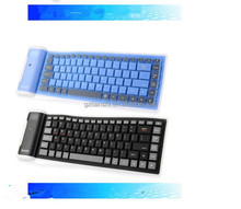 2017 portable Flexible wireless soft silicone Bluetooth gaming Keyboard for mini air