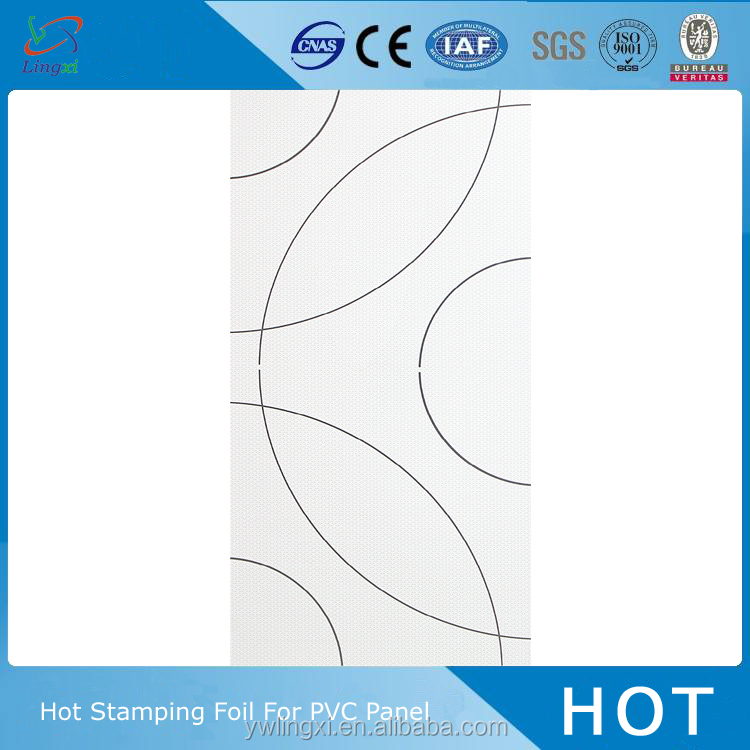 china fashion design hot stamping foil for plastic for pvc panel
