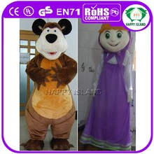 HI EN71 standard mascot costume masha and the bear