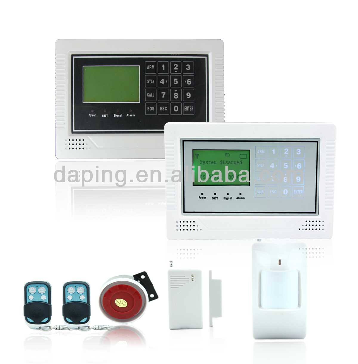 HOT Wholesale 10 Wireless & 4 Wired Zones LCD screen keypad GSM home security alarm device