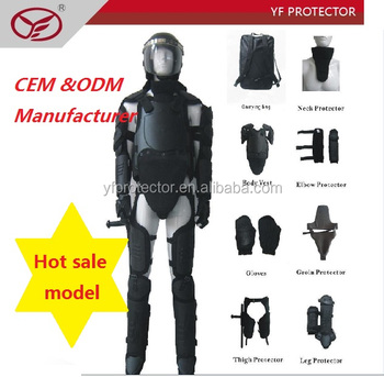 Military equipment flame resistance crowd control gear anti riot suit
