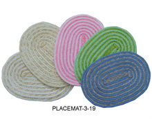 Fresh Wheat Straw Oval Placemat