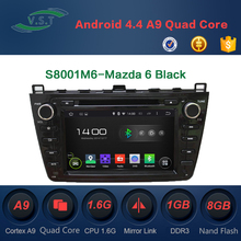 Quad Core 2 Din Android 4.4 Car Dvd Player Autoradio GPS For Mazda 6 Black GPS Navigation