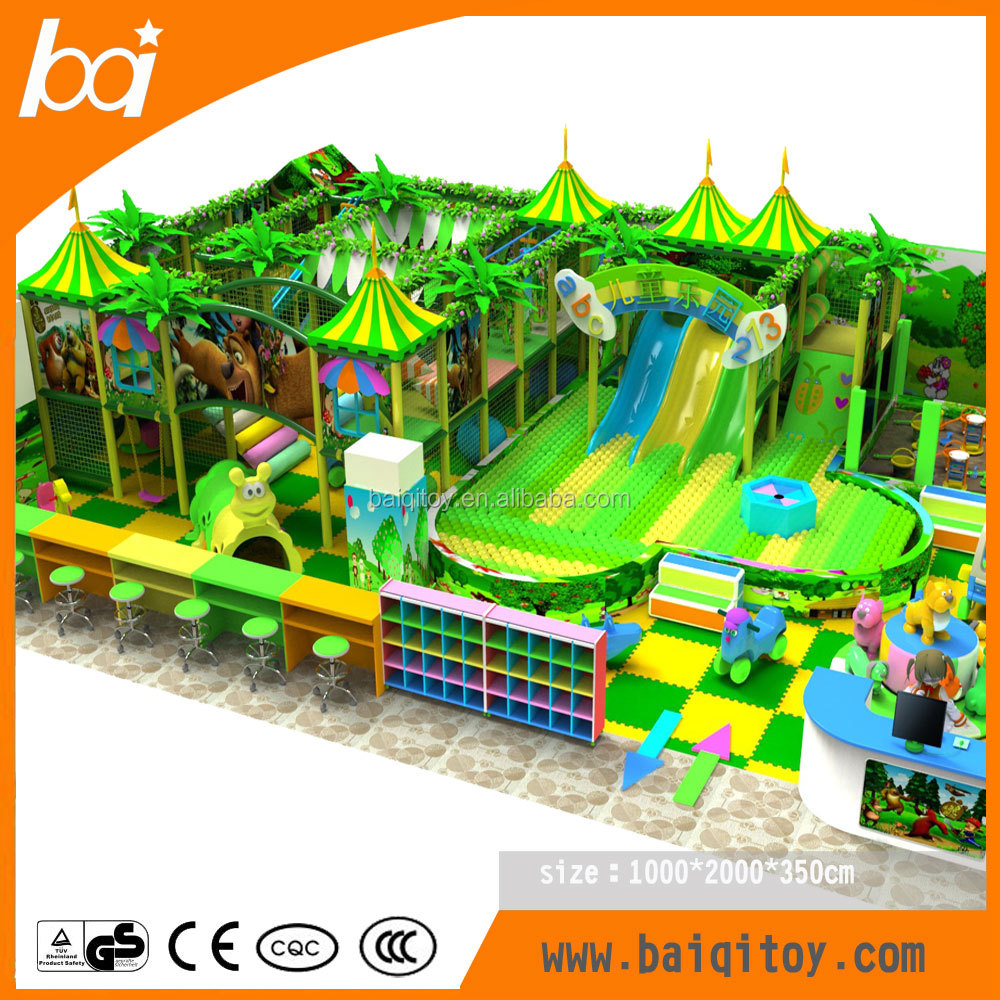 2016 fantastic jungle theme <strong>kids</strong> indoor playground equipment for wholesale