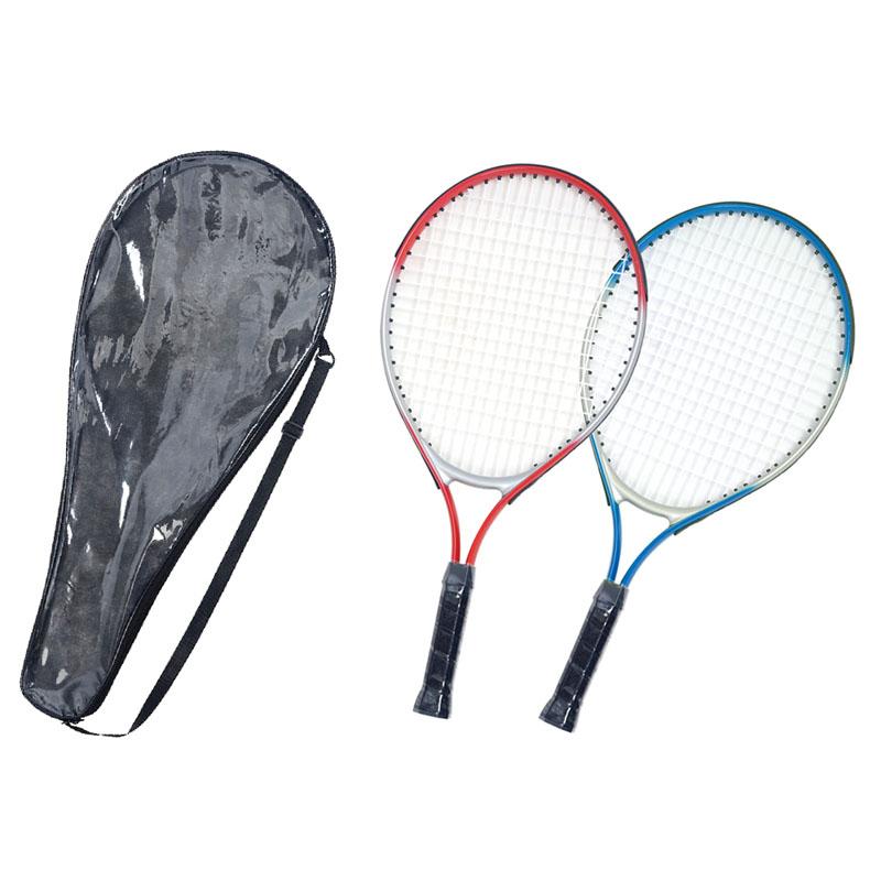 Por Children Tennis Racket With Semi Transpa Bag 2 Colors Aluminium Alloy Plastic