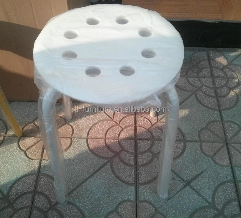 PVC Bar Stool with Metal Legs