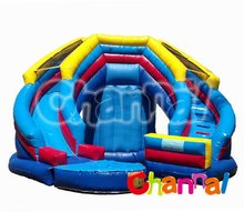 water park inflatable curve splash water slide with pool for sale