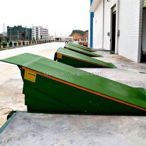 Stationary warehouse hydraulic container loading equipment