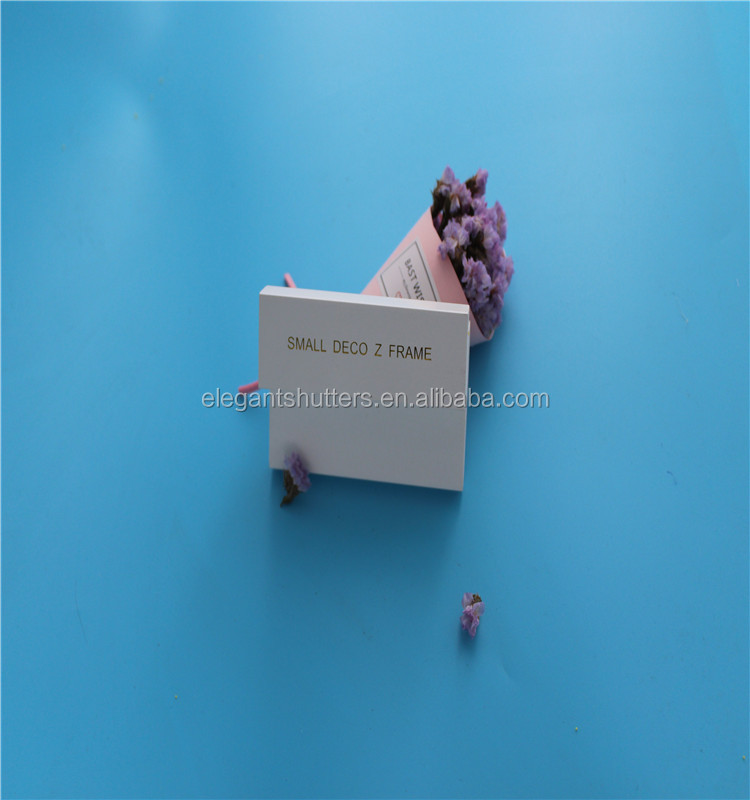 Snow white PVC shutter components