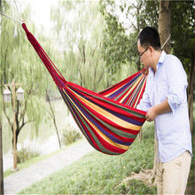 Double/single Hammock Outdoor Swing Camping Hanging Canvas Bed