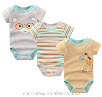 High quality summer baby boys and girls crotch bodysuit