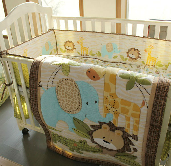 100% cotton print baby nursery bedding set manufacture