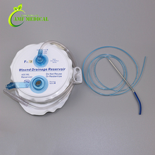 Closed wound drainage system with transparent spring bellow suitable for drainage