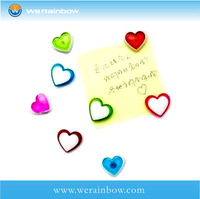 promotional eco-friendly paper heart shaped fridge magnets