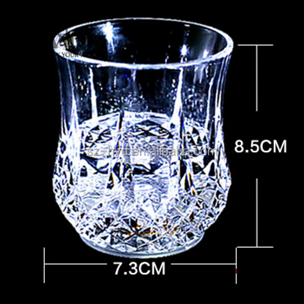 Liquid Activated Led Flashing Plastic Drinking Glass For Party