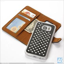 For SAMSUNG Galaxy S7 /G930 case New Hollow Fashion Cute circle dot 2 in 1 PU Leather Wallet Card Case phone smart cover China