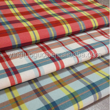 Wholesale Factory Price Yarn Dyed Plaid Shirt Fabric