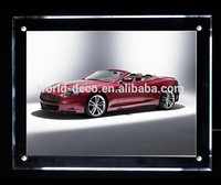 Customized indoor mounted LED advertising lighting frame with acrylic material
