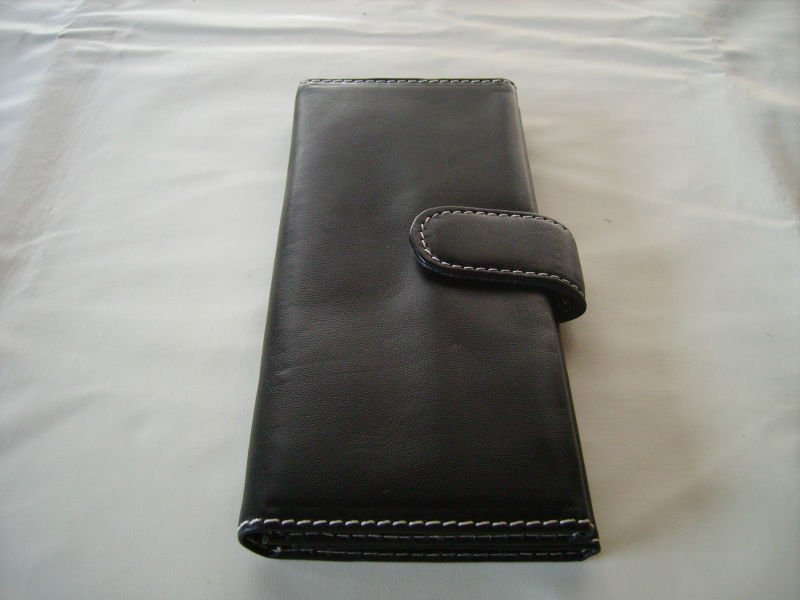 Genuine Leather case for checkbooks