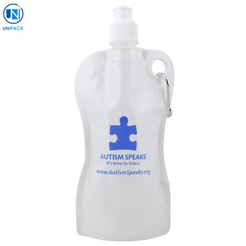 Promotional bpa free Collapsible Water spout packaging