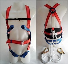 good quality full body safety harness with shock absorber for construction