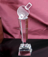 crystal Table Tennis trophy wholesale MH-NJ00362