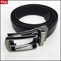New design men's comfort Micro-adjustable belt Genuine leather with steel and zinc alloy buckle