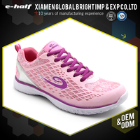 2017 china export pink wire side lighted sport women shoes