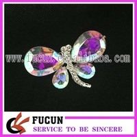 Newly trendy design crystal insect brooches diamante crystal AB dragonfly shape rhinestone brooch