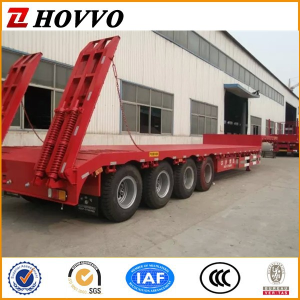Heavy Duty Gooseneck 4 Axle 80 ton Lowboy Trailers For Sale