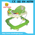Novel design cheap walker for baby with lighting music board Adjustable lovely baby walker with music Hot sale baby walker with