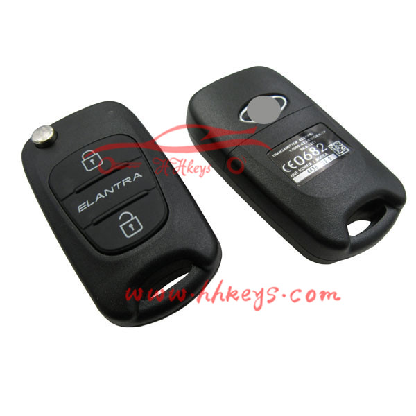 Compatible Ssangyong Auto Remote flip Key no circuit board with 3 Buttons Transmits in 433.92Mhz