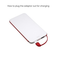 5000mAh Power Bank, LED Display 5V/2.4A Output power bank for iphone ipad samsung phone power supply