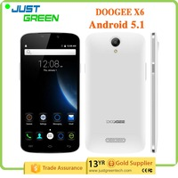 "4G LTE Smartphone Doogee x6 Original 5.5"" HD Screen Doogee X6 Mobile Phone MT6580 Quad Core 1GB/8GB Android 5.1 3000mAh"